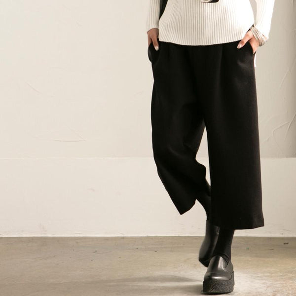 Black Wide-legged Pants Loose Trousers Casual Women Clothes K6322A - FantasyLinen