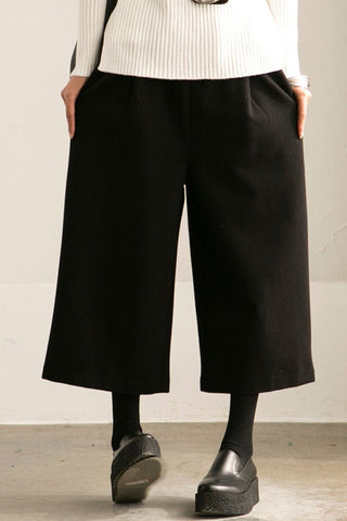 Black Wide-legged Pants Loose Trousers Casual Women Clothes K6322A
