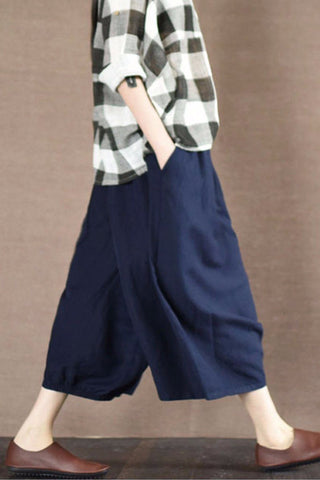 Blue Pants Skirt Pants Daily Women Clothes LR1918