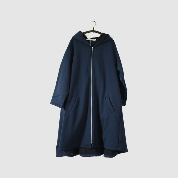 Blue Warm Winter Hood Casual Loose Fleece Coat Women Tops W760 - FantasyLinen