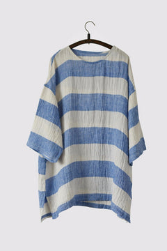 Blue and Rice Stripe Dress LR700