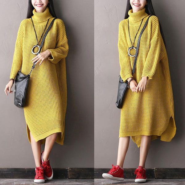 Casual Loose Big Size Bat Sleeve Sweater Long Dress Women Clothes