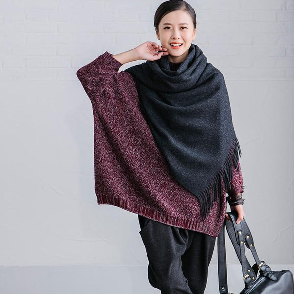 Commuting Wool Art Warm Long Scarf Women Accessories J510A - FantasyLinen