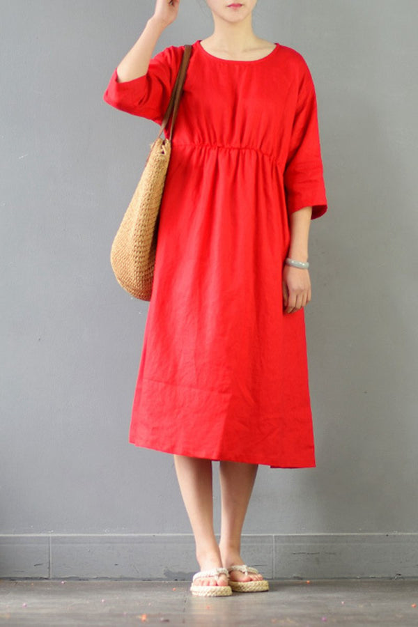 Art Linen Women Dresses Loose Dress for Women S538 - FantasyLinen
