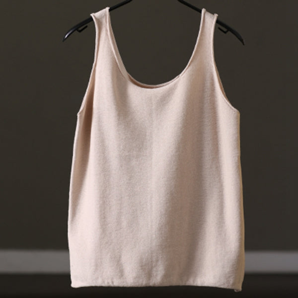 Knitwear Vest Sleeveless Casual Shirt Summer and Spring For Women clothes B1202 - FantasyLinen