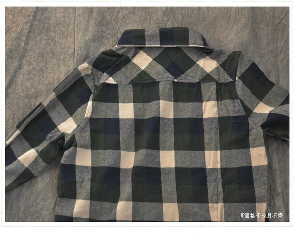 Green Check Cotton Shirt Women Tops Fashion Clothes LR891 - FantasyLinen