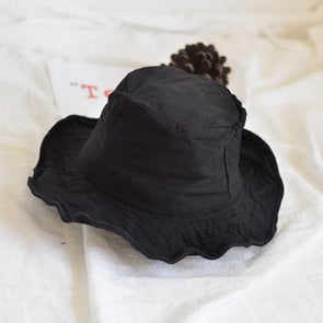 Summer Casual Style Black and Blue Bucket Hat