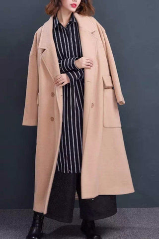 Wool Fashion Long Winter Coat Tops Women Clothes W1885A