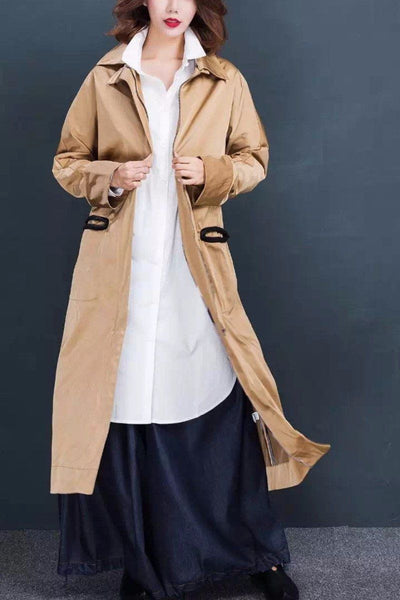 Cool Fashion Loose Wind Coat Casual Tops  Women Clothes W163003A