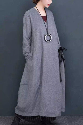 Maxi Size Wool Fashion Long Sleeve Winter Coat Women Clothes 7019A