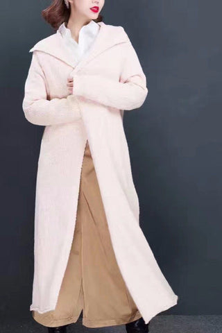 Warm Sweater Maxi Size Coat Women Clothes 15051A