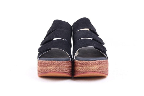 Black Summer Platform Sandals Ladies Shoes E05016