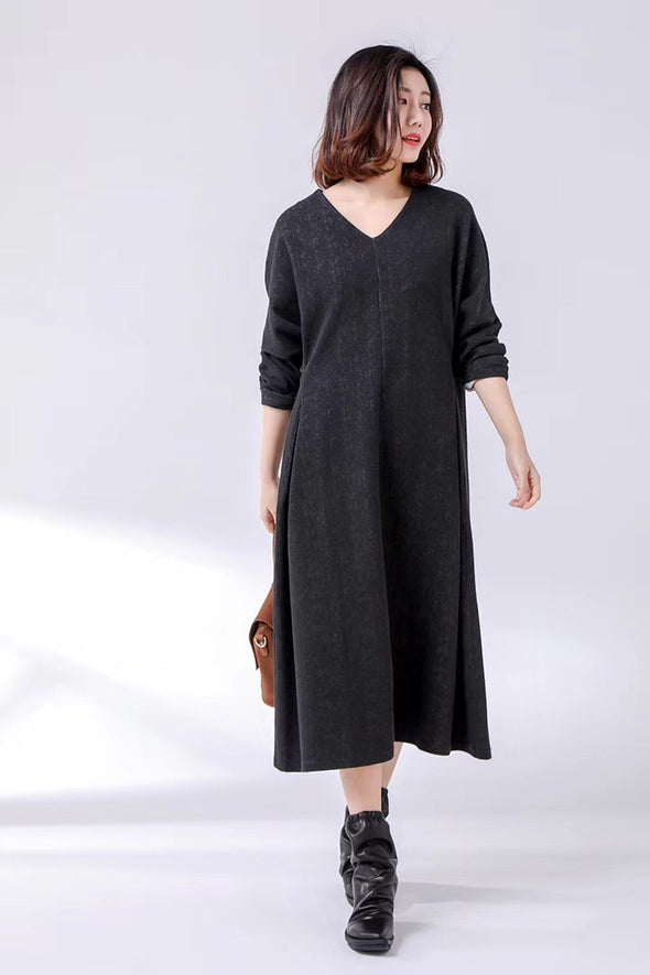 Spring Cotton Tunic Long Dresses For Women 2221