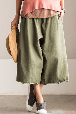 Korean Style Autumn Wide-legged Pants Women Trousers K618AG