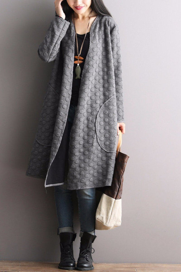 Korean Style Maxi Size Loose Knitting Coat Bat Sleeve Casual Tops Women Clothes W8251A - FantasyLinen