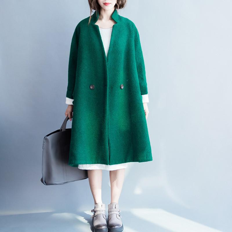 which hair style suits my korean style wool coat clothes w2601a 2601