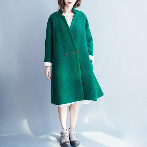 Korean Style Wool Long Coat Women Clothes W2601A - FantasyLinen