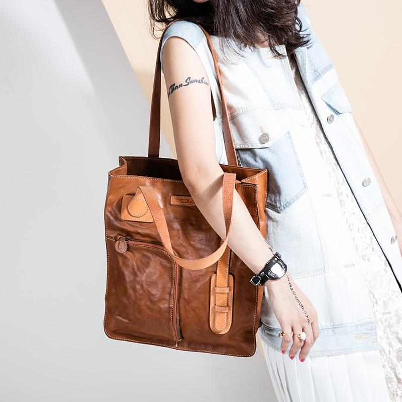 80fc2028479f Handmade Women Leather Tote Bag