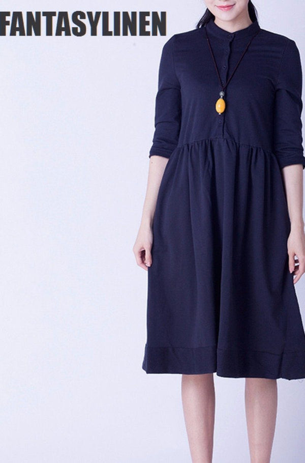 Elegant Warm Loose Casual Dress Women Tops Q0809A - FantasyLinen