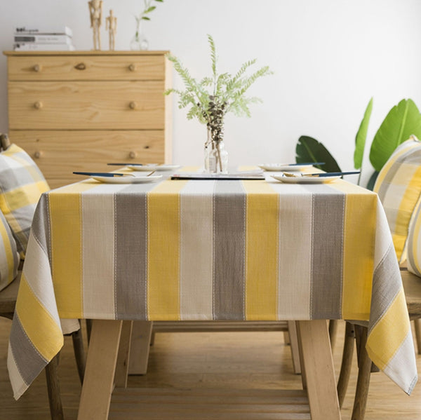 Linen Tablecloth,Striped Linen Tablecloth, Elegant Tablecloth, Christmas Tablecloth, Rustic Tablecloth