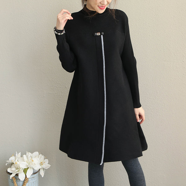 Korea Style Loose Knitted Dresses For Women Q1925