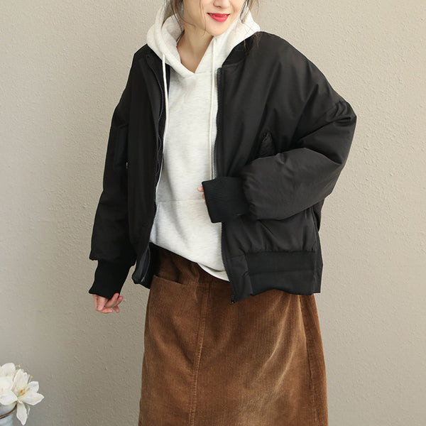 Women Casual Thicken Short Coat Loose Winter Jacket Q1916