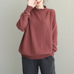 Loose Cotton Casual Sweater Women Winter Tops Q1928