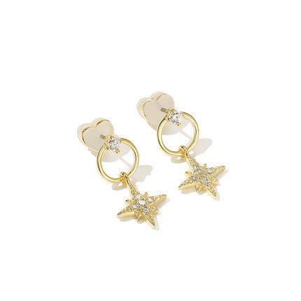 Fashion Women Earring Metal Ear Stud Elegant Accessories