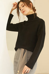 Women Loose And Comfortable Turtleneck Sweater