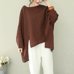 Casual Cotton Linen Loose Shirt Women Fashion Tops Q2192