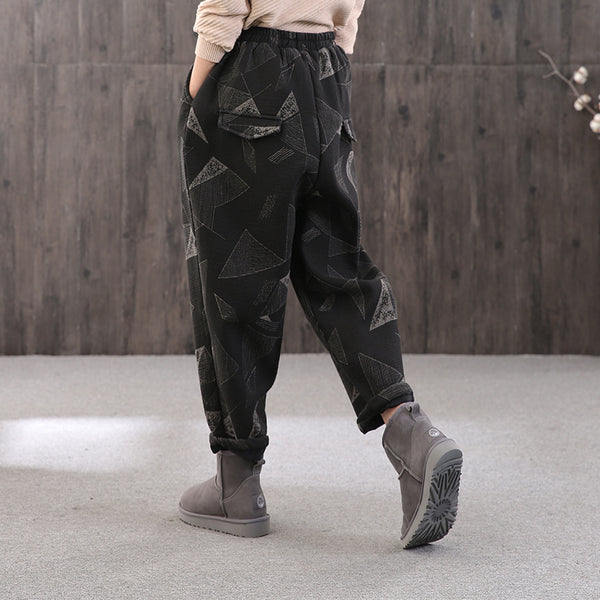 Women Cotton Printed Casual Loose Casual Pants
