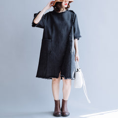 Women's Loose Vintage Denim Dress