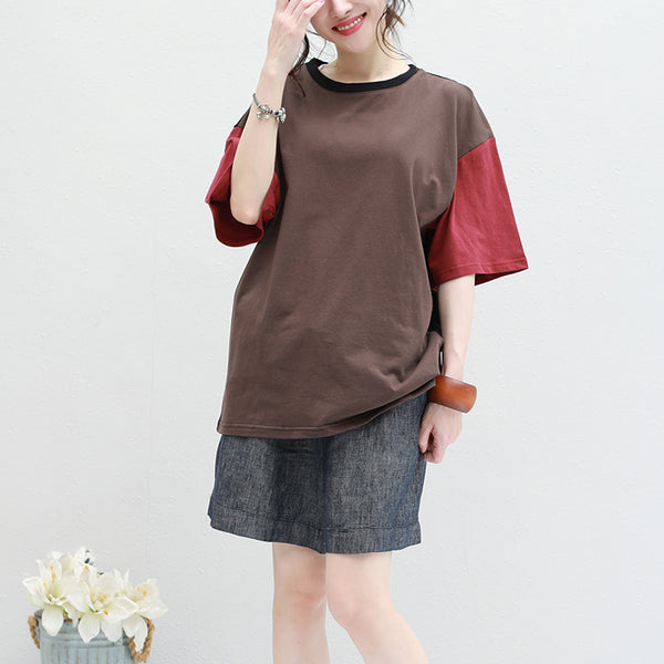Vintage Loose Quilted Summer Cotton Linen Shirt For Women Q2807