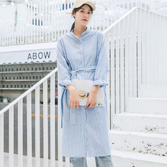Fashion Striped Long Shirt Women Casual Blouse For Autumn