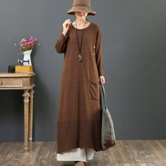 Women's Plus Size Asymmetrical Sweater Dress