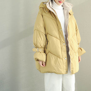 Women Short Hoodie Thick Winter Coat Casual Outfits Q2070