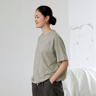 Simple Pure Color Cotton Shirt Women Summer Loose Blouse S6053