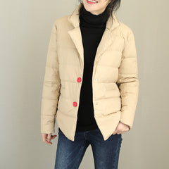 Cute Casual Short Down Coat Women Fashion Winter Tops Q2100