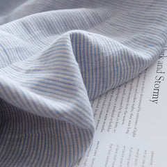 Natural Yarn-dyed Striped Linen Fabric By The Yard Or Meter.  Cut-to-length linen fabric. Softened, pre-shrunk linen fabric for sewing in various colors.