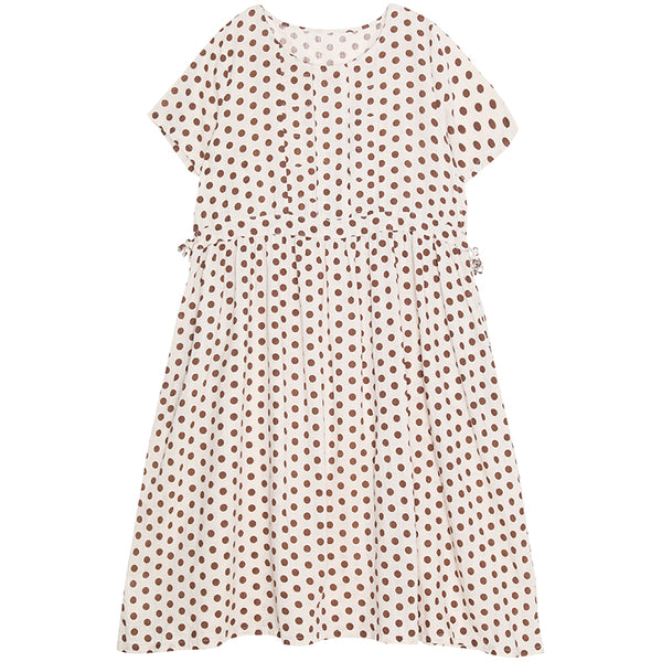 Loose Polka Dot Summer Cotton Dresses For Women Q19065
