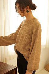Women's Drop Shoulder Loose Knit Sweater