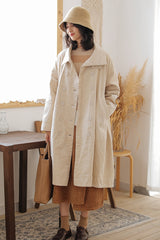 Women Double Breasted Corduroy Coat