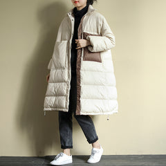 Women Winter Loose Big Pocket Down Coat