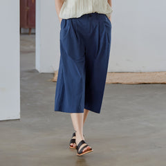 Loose Summer Cotton Pants Women Casual Cropped Trousers K27050