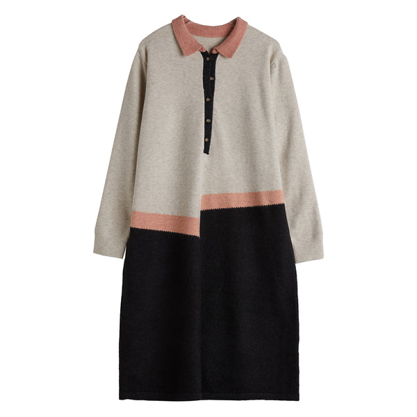Women's Spliced Loose Comfortable Knit Dress