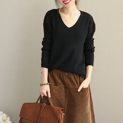Simple Loose Base Sweater Women Casual Knitwear Q1921