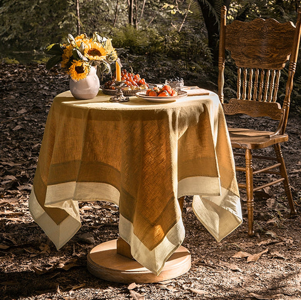 Linen Tablecloth Rustic Tablecloth For Wedding Round,Square,Rectangular Table Linens. Custom Linen Fabric Tablecloth