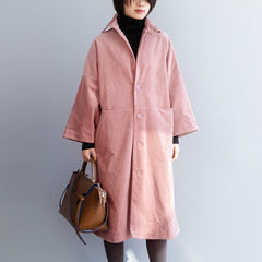 Fashion Medium Length Coat 3/4 Sleeve For Women F2122