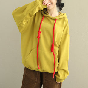 Korea Style Cute Hoodie Loose Fleece Women Casual Tops Q2030