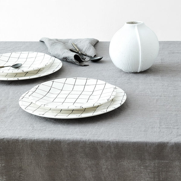Simple Pure Color Washed Linen Tablecloth Handmade Tablecloth